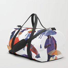 People with umbrellas Duffle Bag