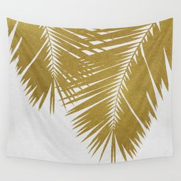Palm Leaf Gold II Wall Tapestry