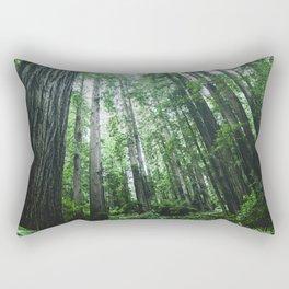 Redwood National Park- Pacific Northwest Nature Photography Rectangular Pillow