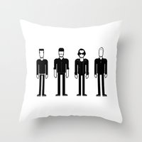 u2 Throw Pillows featuring U2 by Band Land