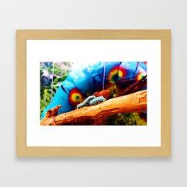 Blue Caterpillars Framed Art Print