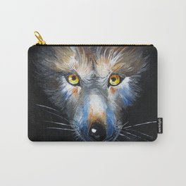 Wolf Close-Up Carry-All Pouch