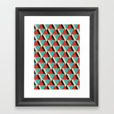 Retrospect, Triangle Duo, No. 04 Framed Art Print