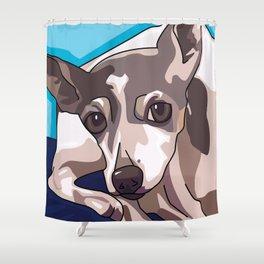 Jasmine Dog Shower Curtain