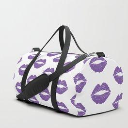 Purple Lips Duffle Bag