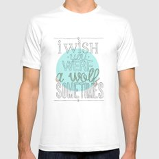 Be a wolf. MEDIUM White Mens Fitted Tee