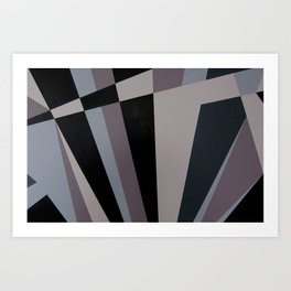 Razzle Dazzle Camouflage Graphic Art Art Print