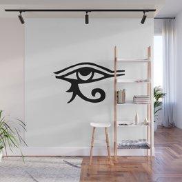 Eye Of Horus White Wall Mural