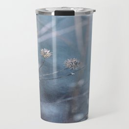 Dusty Fog Flowers Travel Mug