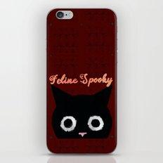 Feline Spooky: Black Halloween Cat iPhone Skin