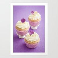 cupcakes Art Prints featuring Cupcakes by Elisabeth Coelfen