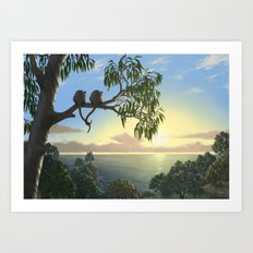 Lovers View Art Print