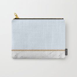 Duck egg blue marble Carry-All Pouch