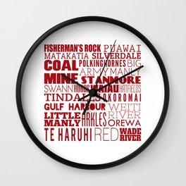 Hibiscus Coast V7 Wall Clock