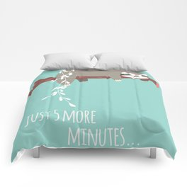 Sloth card - just 5 more minutes Comforters