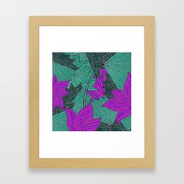 Australica Floral Palm Framed Art Print