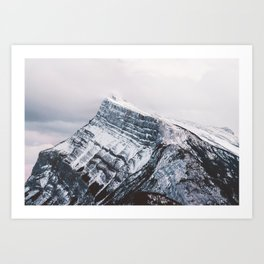 Mt. Rundle Piercing the Clouds Art Print