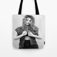 sky ferreira Tote Bags featuring You're Not The One ~ Sky Ferreira by Michelle Rosario