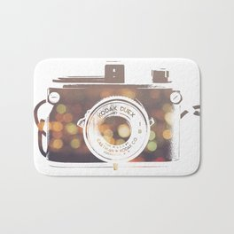 Camera rainbow Bath Mat