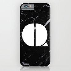 Black Marble - Alphabet Q Slim Case iPhone 6s