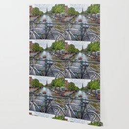 Amsterdam Bridge Canal View Wallpaper
