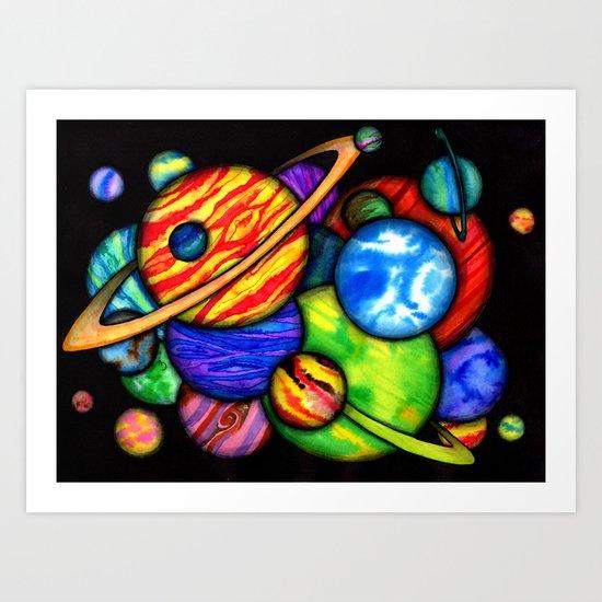 Space Marbles Art Print