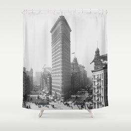 Flatiron Building - Vintage New York - 1902 Shower Curtain