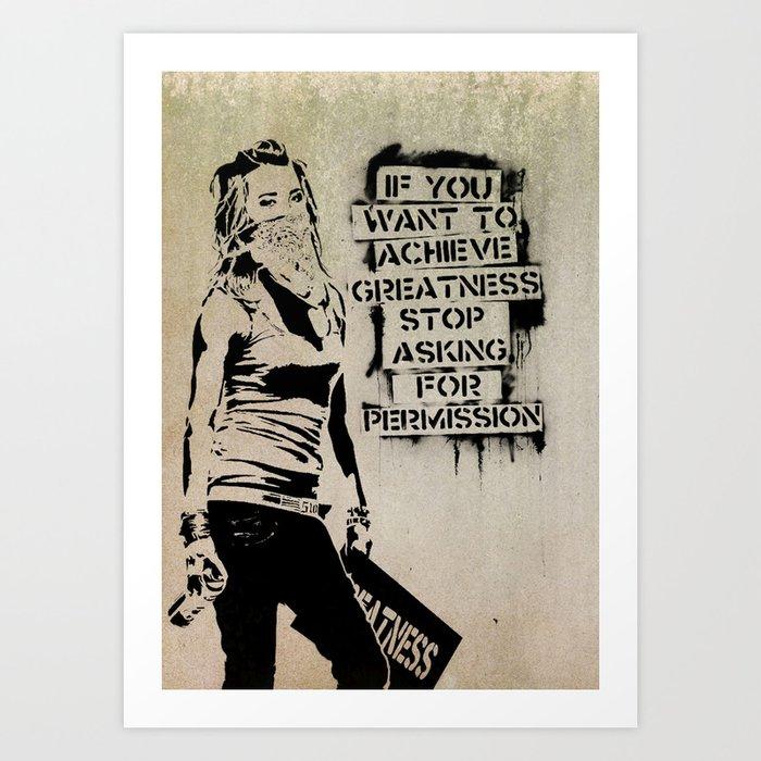 Banksy, Greatness Art Print