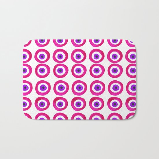 Evil Eye Amulet Talisman in Pink Bath Mat