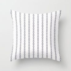 Grey decorative stripes on white. Throw Pillow