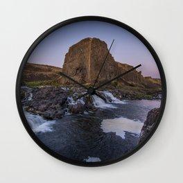 Palouse Falls - Waterfall Sunset Wall Clock