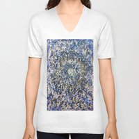 abyss V-neck T-shirts featuring EMERALD ABYSS by Glint & Lime Art