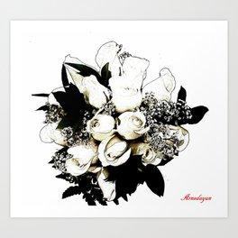 ramo de novia ( Bridal Bouquet ) Art Print