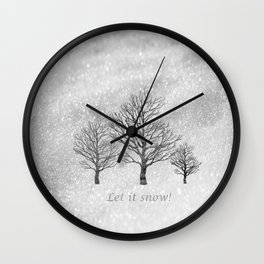 Let it Snow! Wall Clock