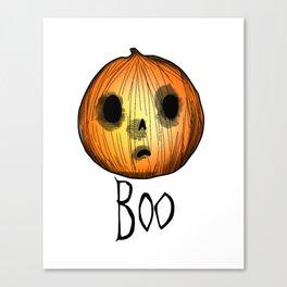 Creepy Cute Pumkin, Halloween Canvas Print