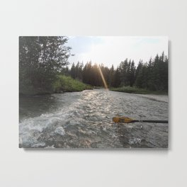 Rafting Down the Snake River Metal Print