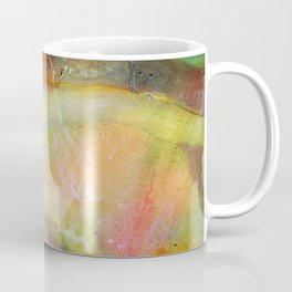 Colorful Abstract Marble Stone Green overtones Coffee Mug