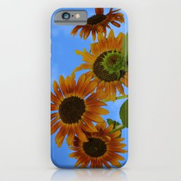 never trust a perfect sunflower iPhone Case