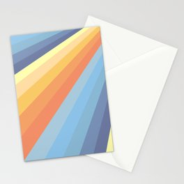 Classic Colorful Abstract Minimal Retro Style Stripe Rays Stationery Cards