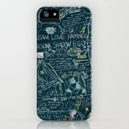 Persona Chalkboard Art iPhone Case