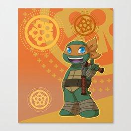 TMNT Chibi Mikey Canvas Print
