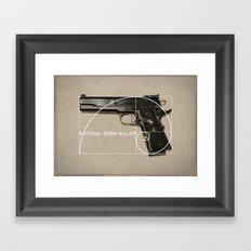 Natural Born Killer Framed Art Print