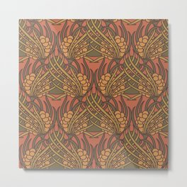 Koloman Moser - Fabric design Metal Print