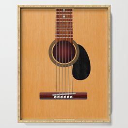 Acoustic Guitar Serving Tray