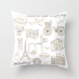 I {❤} Travel Throw Pillow