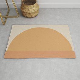 Minimal Retro Sunset / Sunrise - Desert Orange Rug