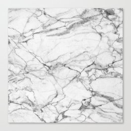 White Marble Stone Canvas Print