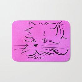 Cat Lines Bath Mat