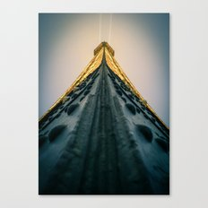 Paris, the top of the Eiffel Tower view from the second floor Canvas Print