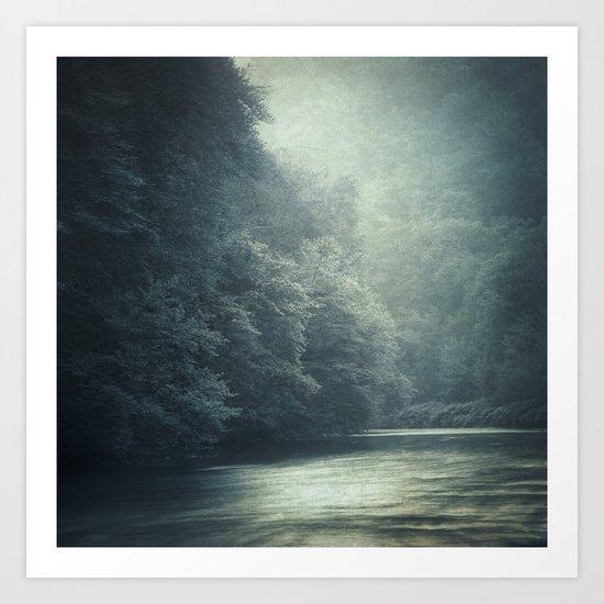 mystery river Art Print